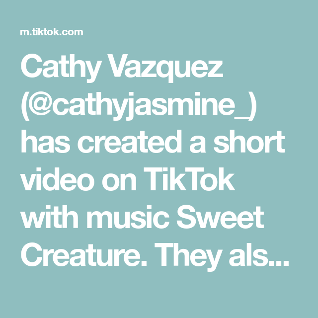 Cathy Vazquez Cathyjasmine Has Created A Short Video On Tiktok With Music Sweet Creature They Also Have A Drink Called Watermelon Sug Burbank Music Sweet