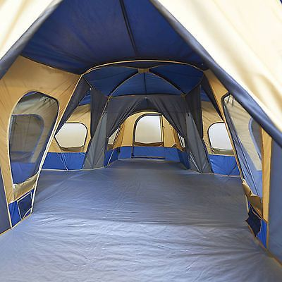 Ozark 14 C&er Huge Family Cabin Tent x 3 Sewn-In 4 Room Dividers Large & 14 Person 20u0027 x 20u0027 Camp Family Cabin Tent Camping Like and Repin ...