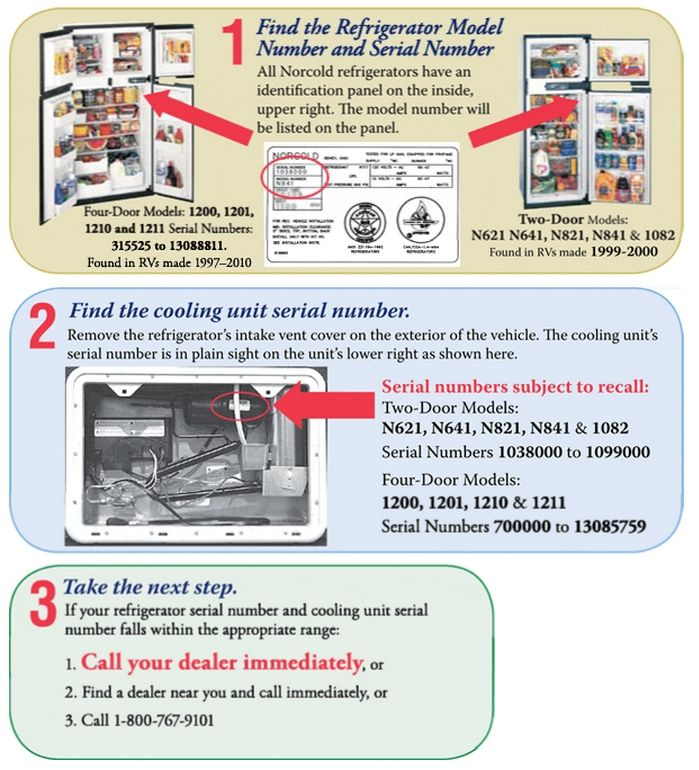 Norcold Refrigerator Solutions Ways To Avoid Problems Rv