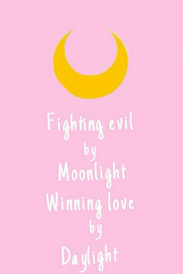 Fight evil by moon light wining love by day light