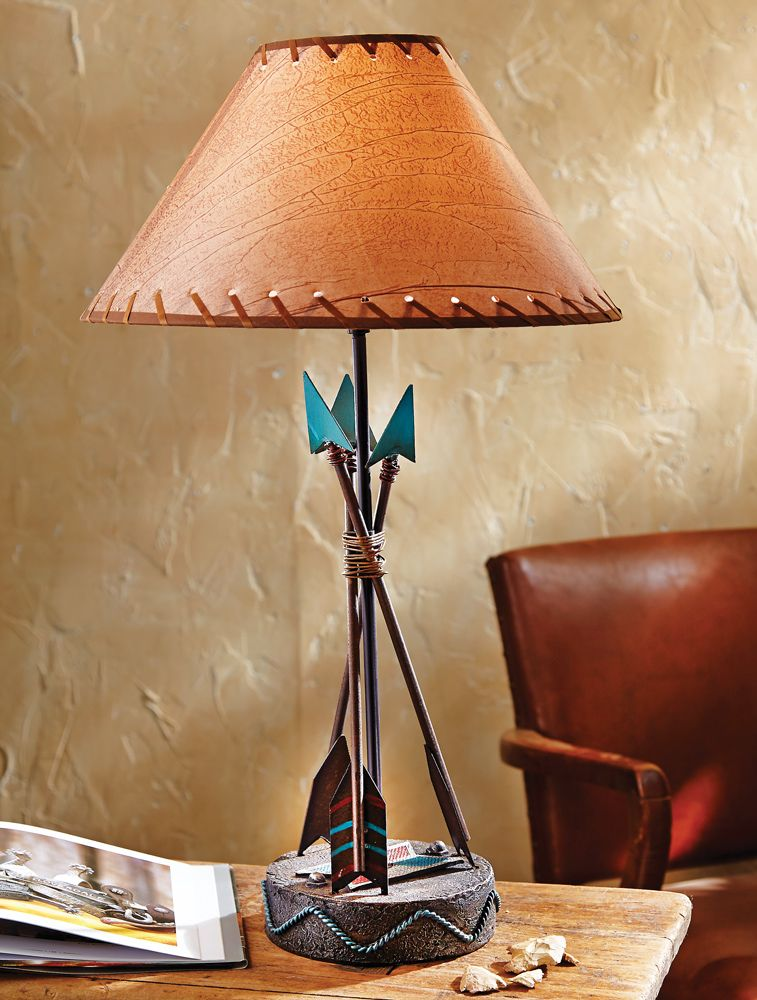 Southwest arrow table lamp southwestern decor pinterest southwest arrow table lamp aloadofball Gallery
