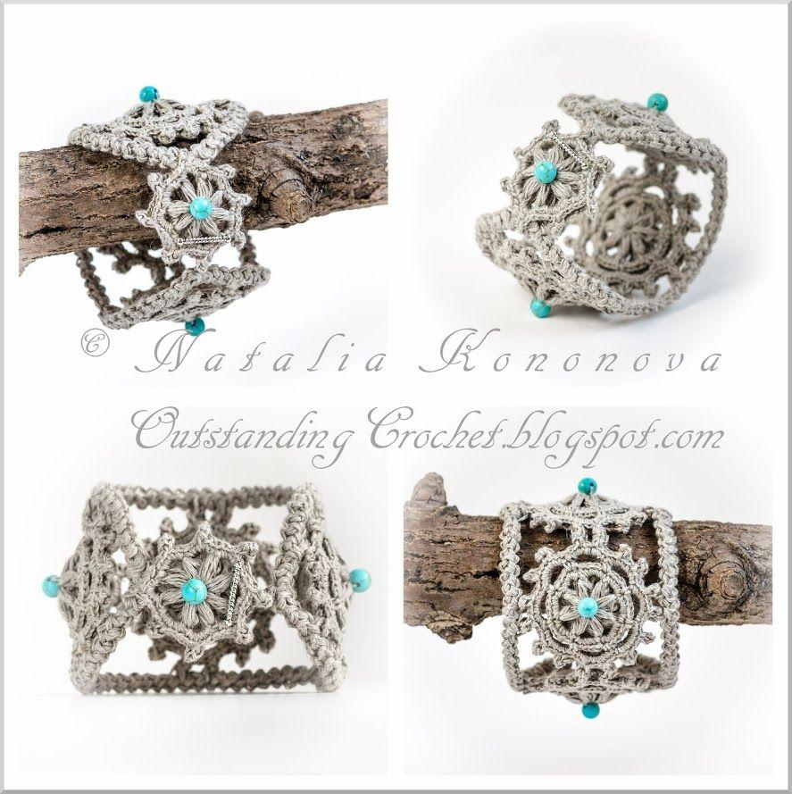 Crochet brazelet | Ideas Crochet | Pinterest | Pulseras, Ganchillo y ...