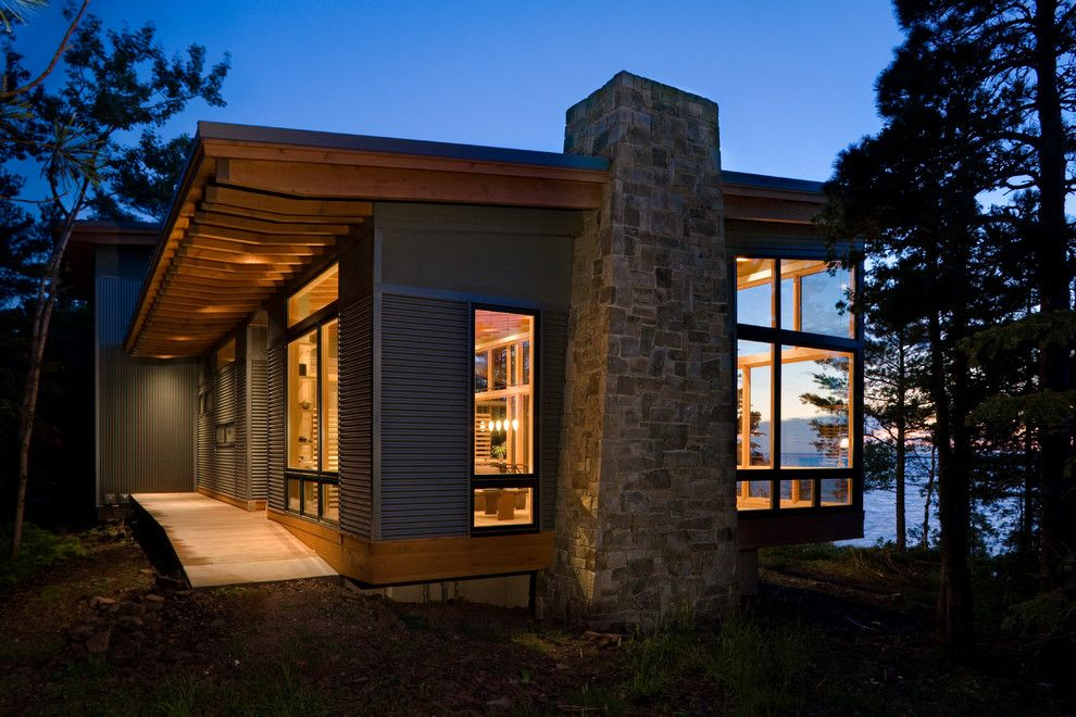 4 Bedroom House Plans One Story Modern Lake House Cabin Design Modern Cottage