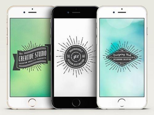 3 бесплатных векторных макета iPhone 6