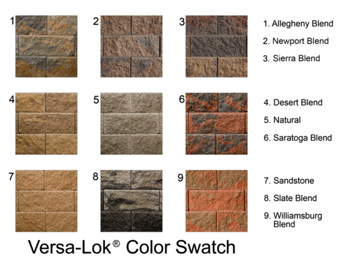 Versa Lock Color Swatch I Like 4 Or 5 Retaining Wall Block Gravity Retaining Wall Retaining Wall