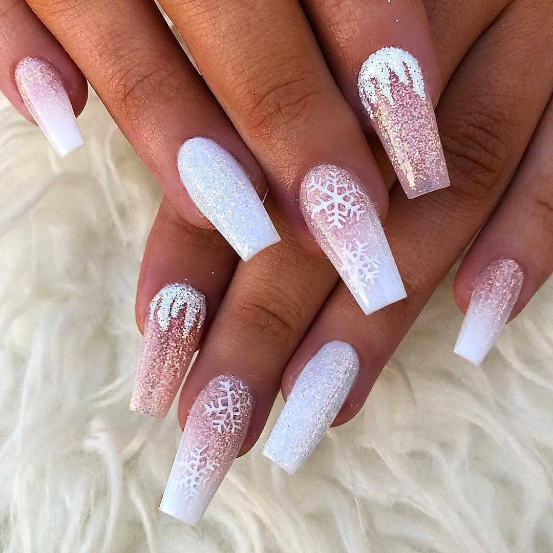 The Nails Beauty Thenails Beauty Click On The Link In My Bio Profile Thenails Beauty To Order Winter Nails Acrylic Coffin Nails Designs Chistmas Nails