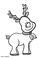 Renne Da Colorare.Reindeer Christmas Coloring Coloringpages Coloringpagesforkids