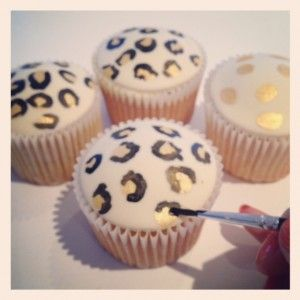 Leopard cupcakes tutorial
