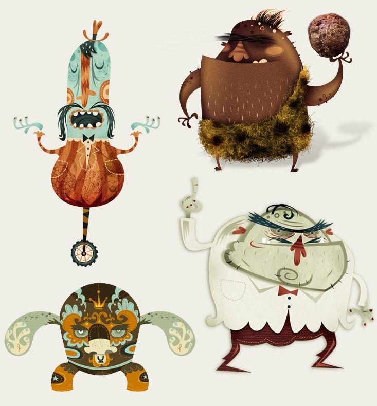 Characters by Alberto Cerriteno | monsters | Pinterest | Juguetes de ...