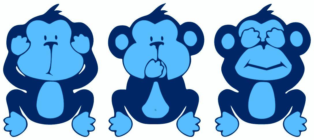 See No Evil Hear No Evil Speak No Evil Https Fizzerradio Files Wordpress Com 2013 12 See Hear Speak No Evil Monkeys Blue Jpg Monkey Art Wise Monkeys Monkey Drawing