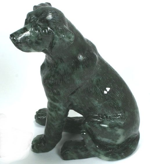 Carved gemstone animals animal carving in nephrite jade