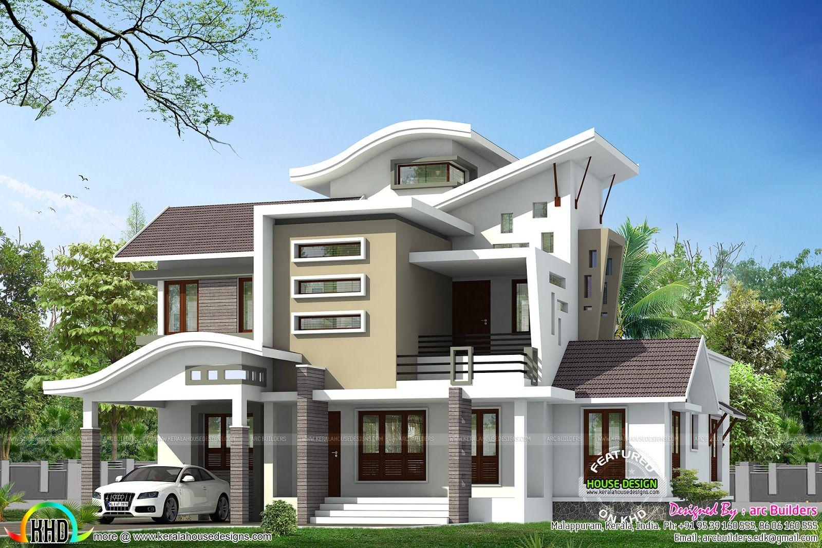 Unique ultra modern contemporary architecture kerala bungalow house design duplex also   lakhs cost estimated sq ft home in rh pinterest