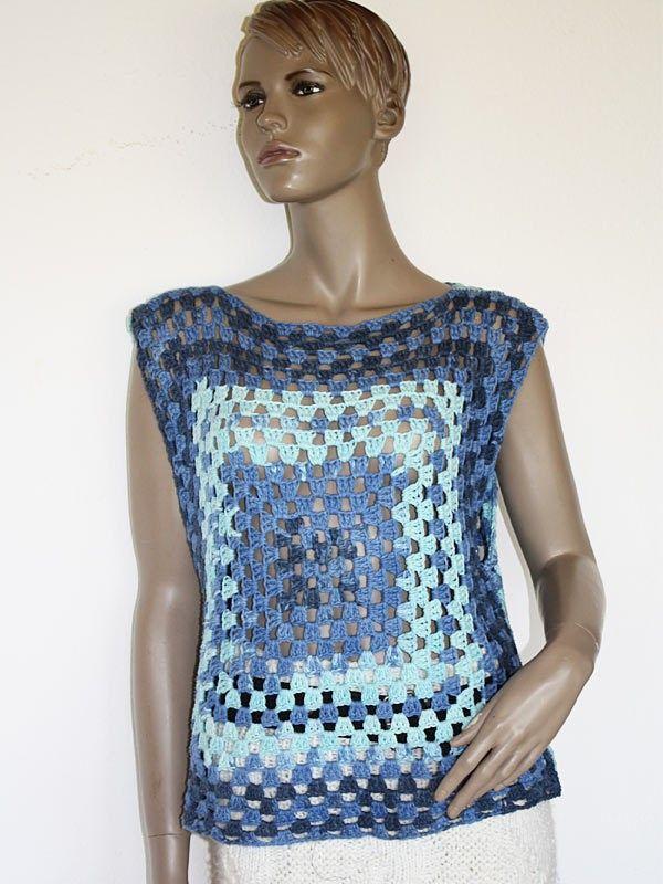 Häkelanleitung Top Shirt Granny | crochet | Pinterest ...