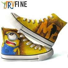 YJRVFINE Despicable Me Minion Figure Shoes Couples Hand Painted Shoe Unisex High Top Fashion Casual Graffiti Shoes //FREE Shipping Worldwide //