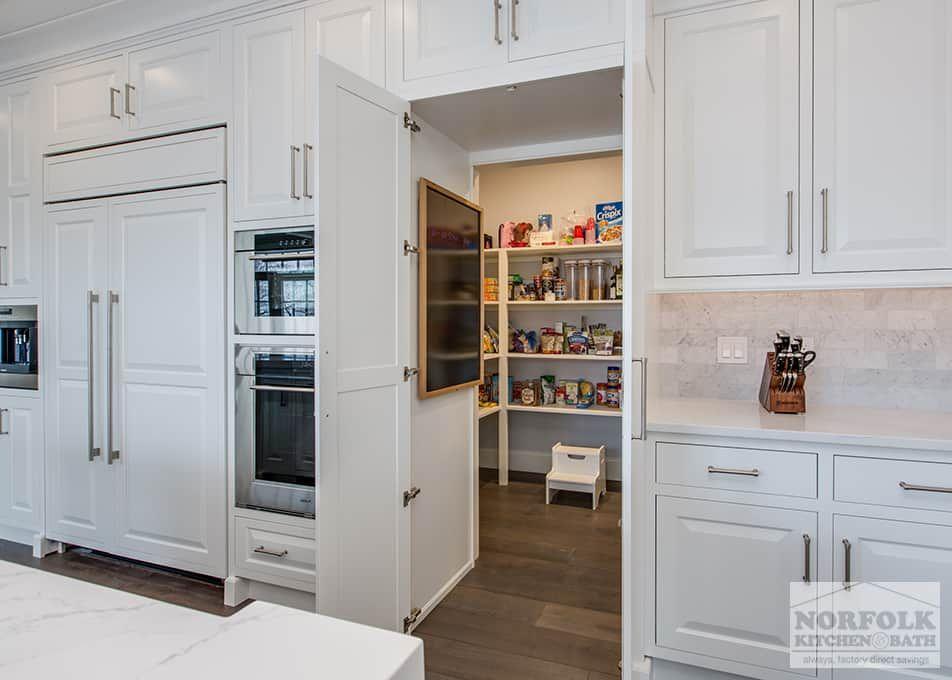 a secret pantry hidden behind a cabinet door! in 2019 | kitchen, kitchen cabinets, hidden pantry