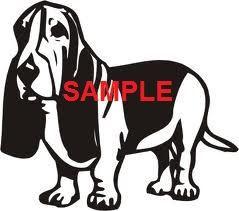 Basset Hound Dog Stood Cross Stitch Chart now at www.crossstitchchartheaven.co.uk #crafts #sewing #xstitch #dogs