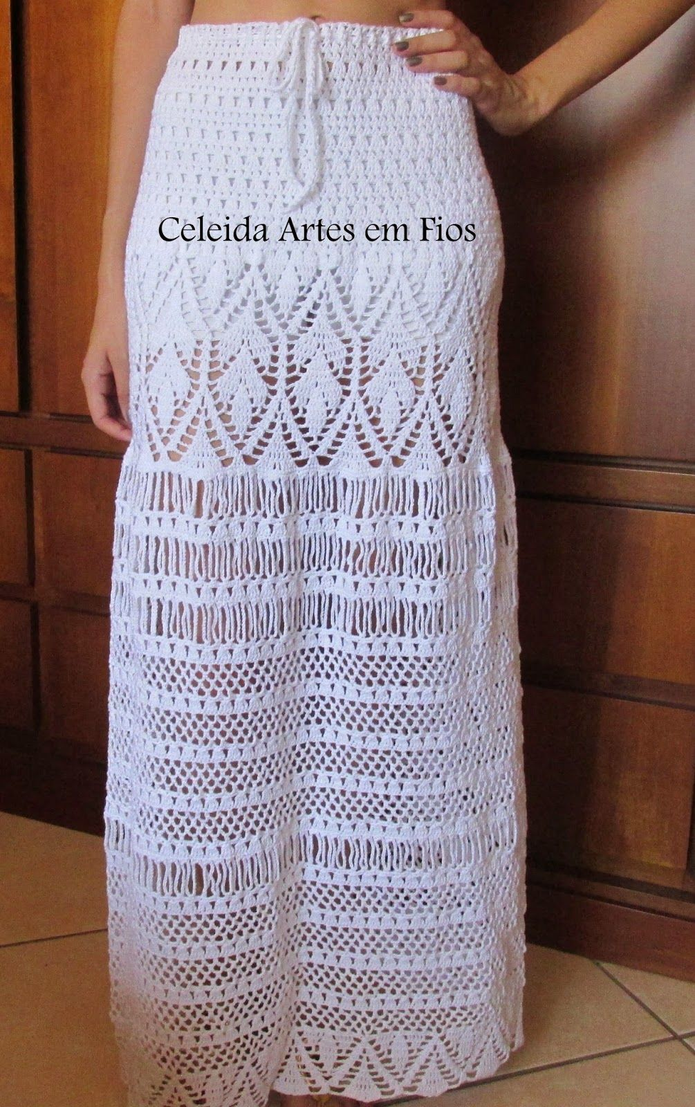 Celeida Arts Yarns: Long skirt crochet | CROCHET | Pinterest | Falda ...