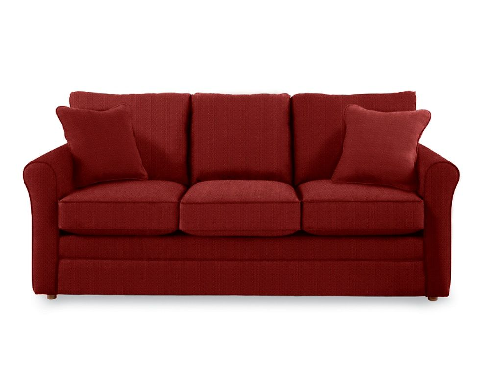 A Petite Style That S Big On Comfort The Leah Queen Sleep Sofa Lets You Live Large In Small Spaces A Sleek Profile Designe Sofa Couch Set Living Room Bedroom