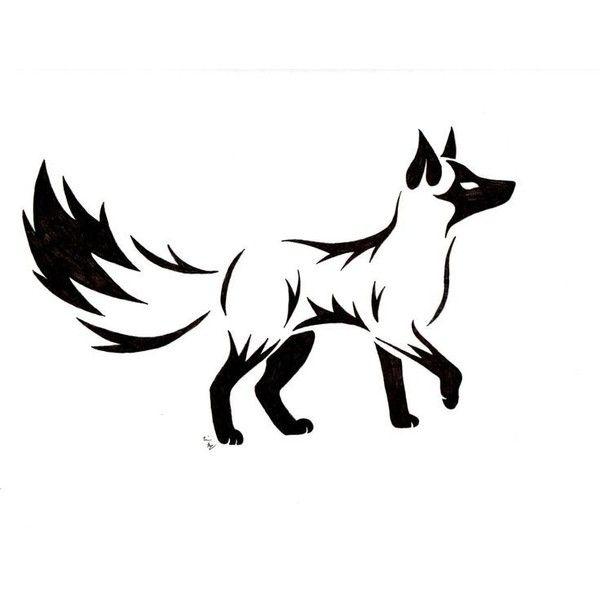 Tribal Drawing Fox Tattoo Designs