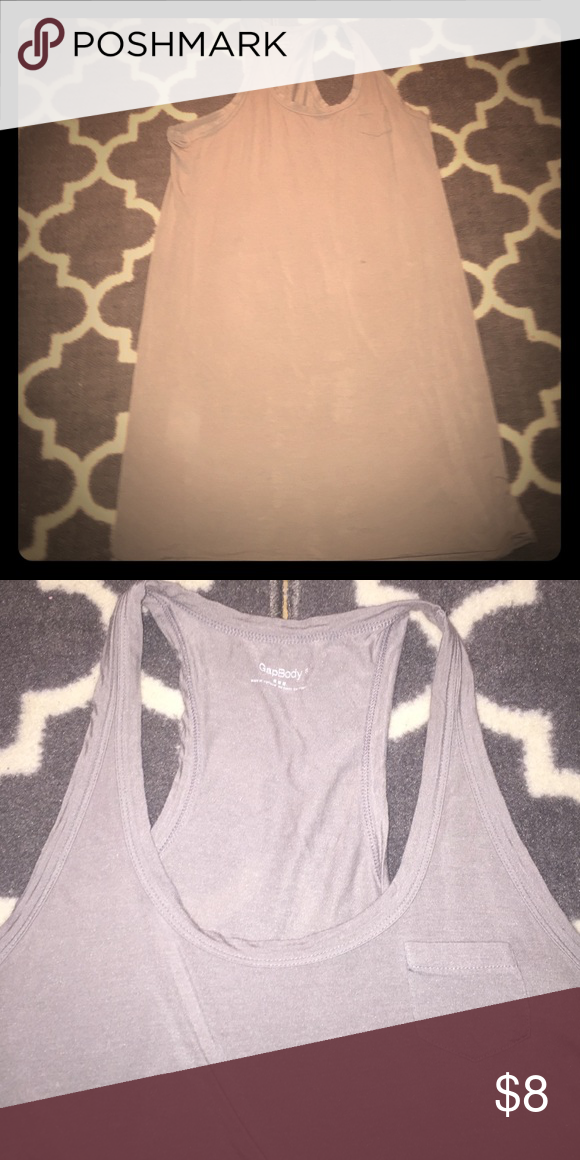 Gap size S gray lounge racerback dress Stretchy. Gray dress for lounging. Gap size S. No signs of wear or tear. Pet and smoke free home GAP Intimates & Sleepwear