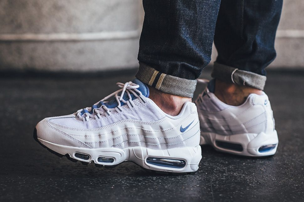 ccab67db3e61 On-Foot: Nike Air Max 95 Essential Chalk Blue - EU Kicks: Sneaker Magazine