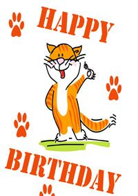 Free Printable Cat Birthday Cards