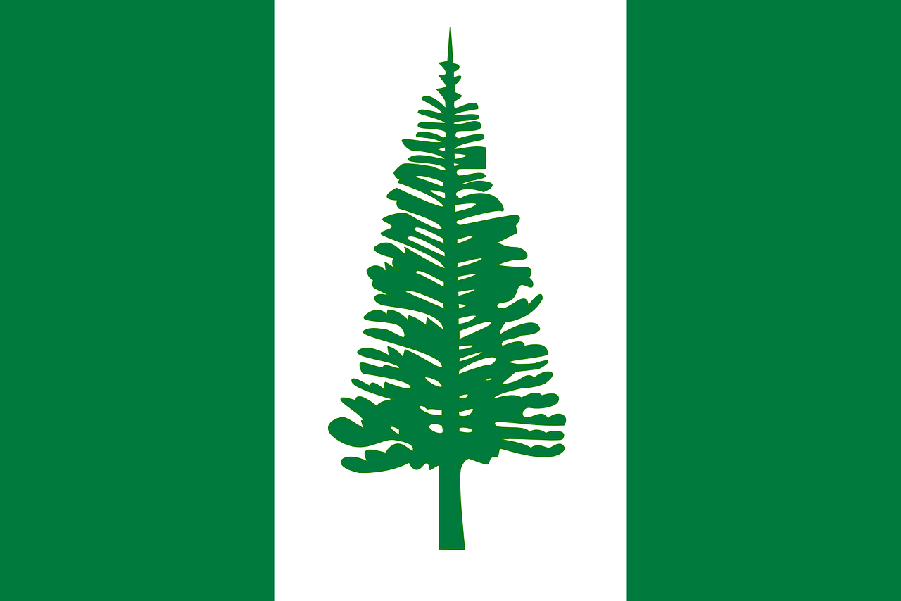 Island Norfolk Island Flag National Flag Island Norfolkisland Flag Nationalflag Norfolk Island Green And White Flag Island