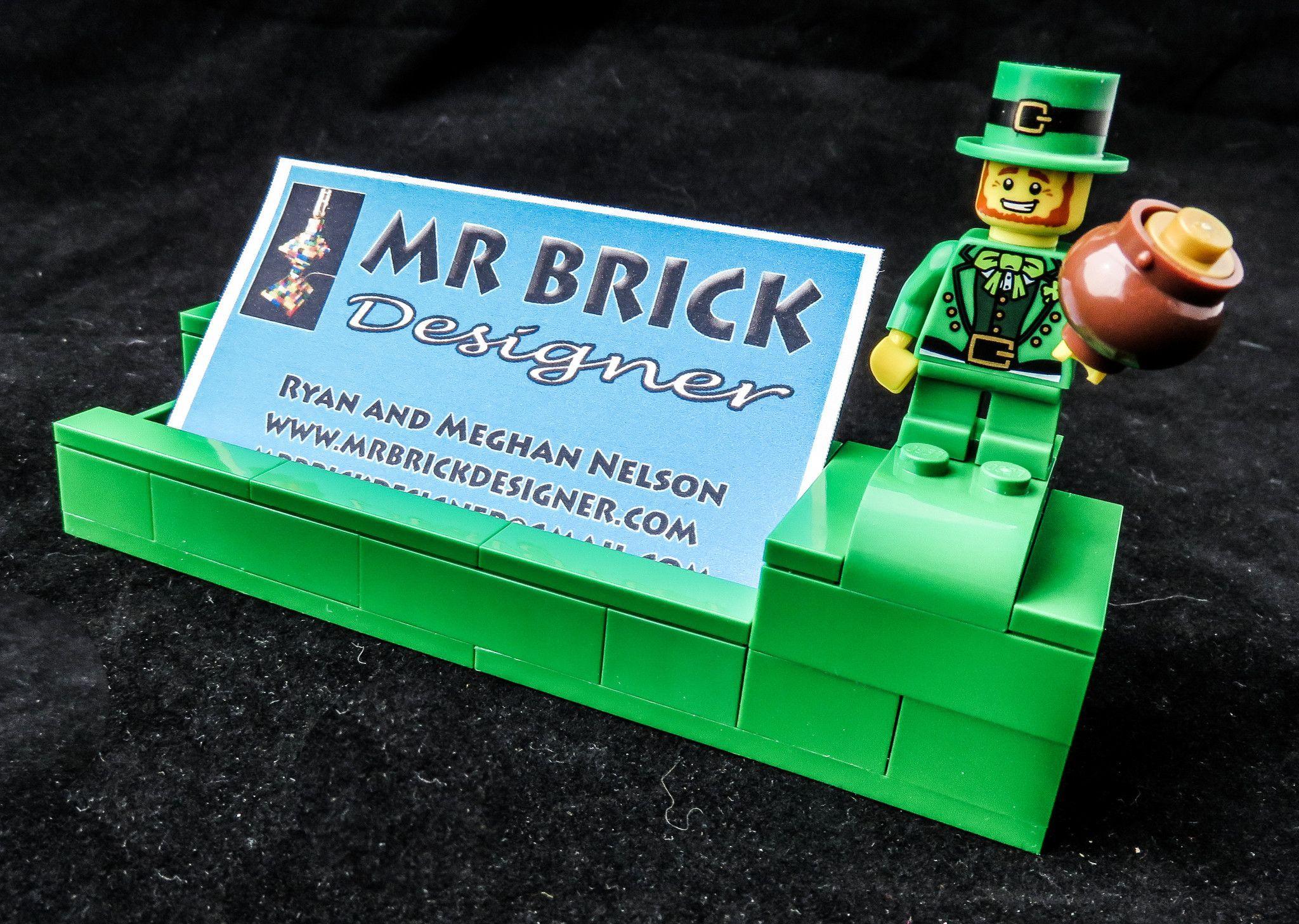 Irish leprechaun business card holder business card