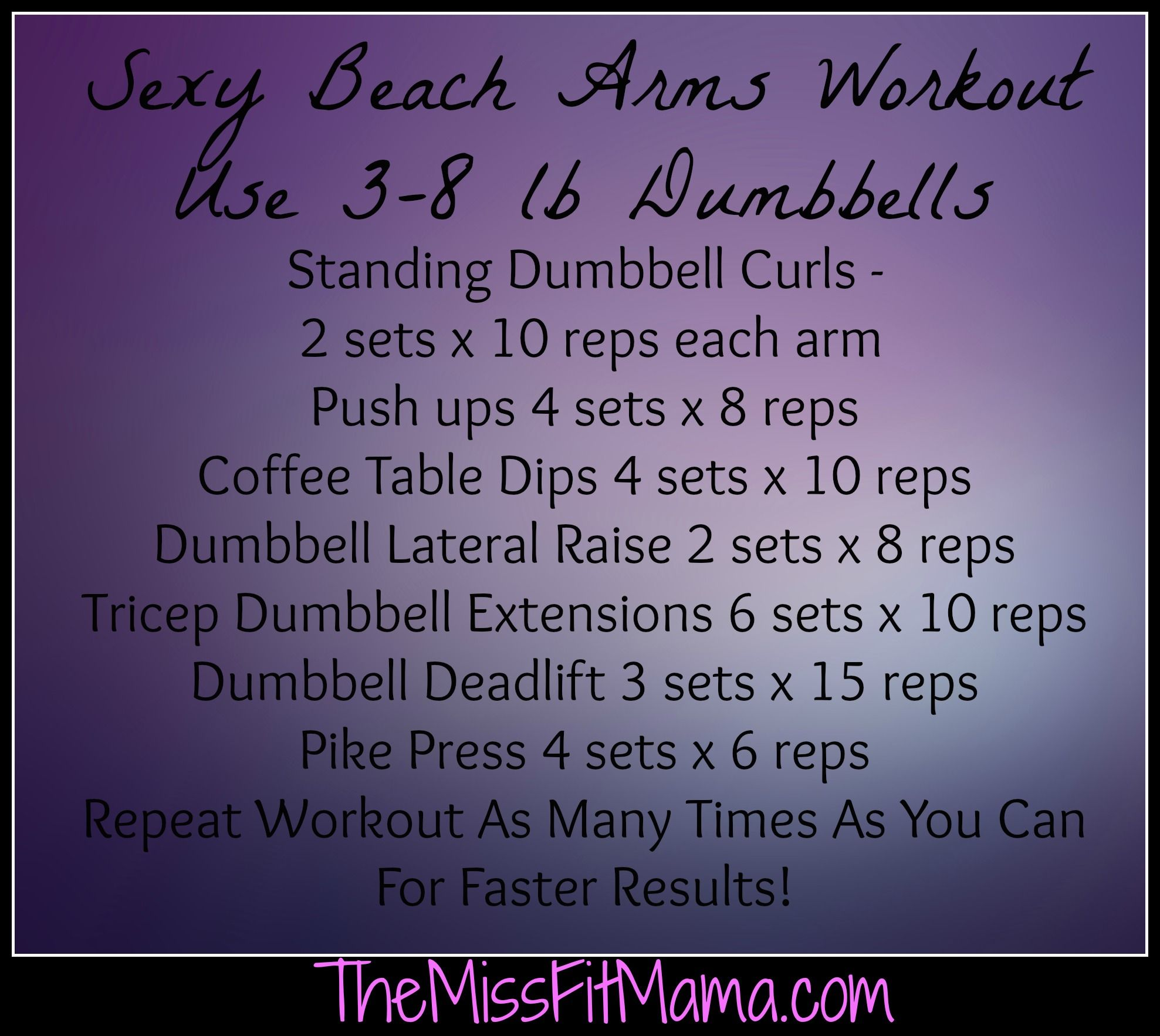 Sexy Beach Arms Workout Click Here