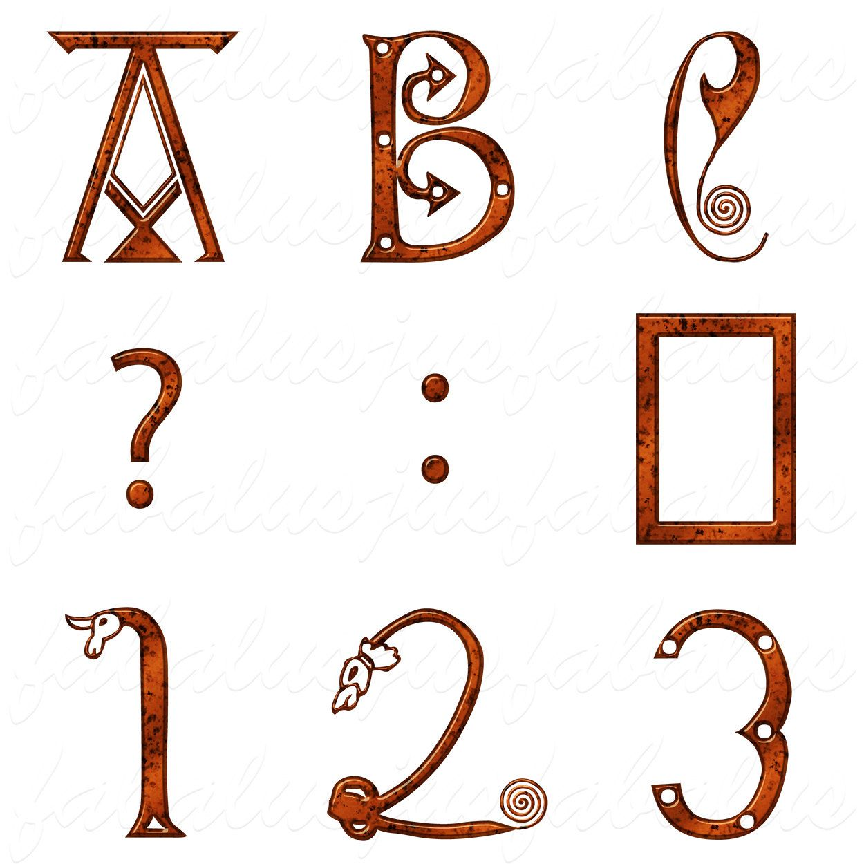 Alphabet Letters Numbers Ancient Medieval Anglo Saxon Ye