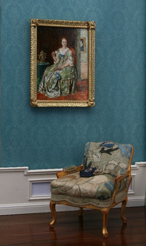 chair and painting.  A Beautiful World: Dollshouse Shows