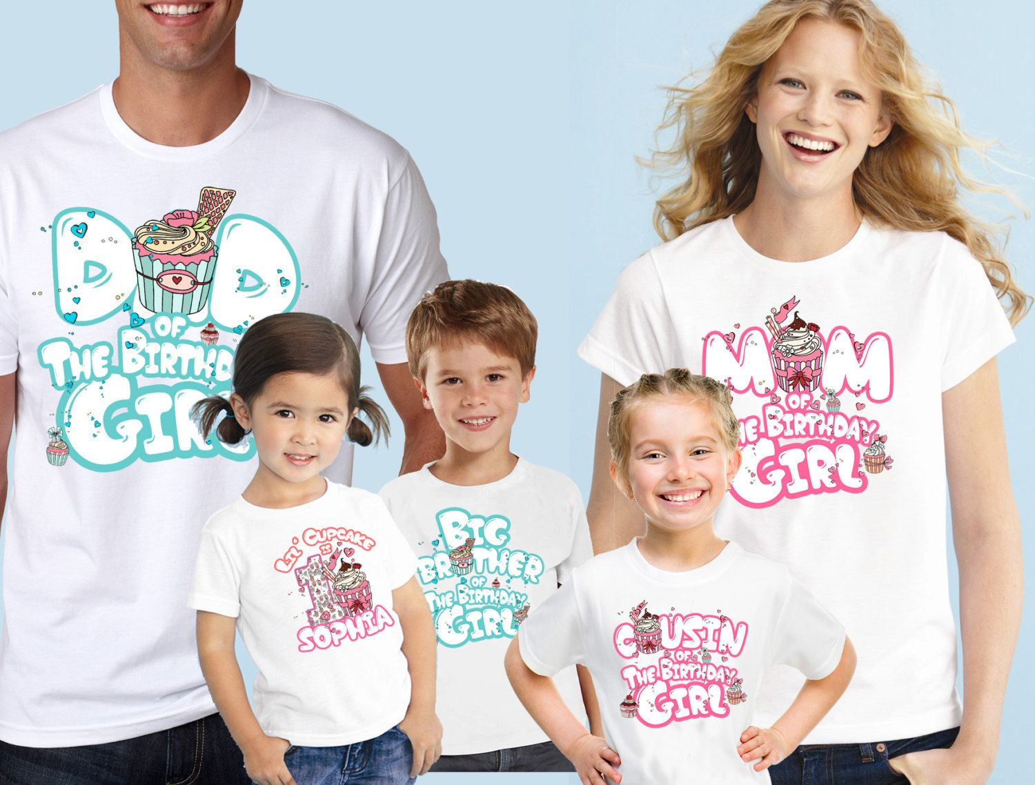 Cupcake Birthday Custom ShirtBoys Girls ShirtBirthday Party T Shirts Now For Parents And Family Members Fast Shipping By DatShirts On Etsy