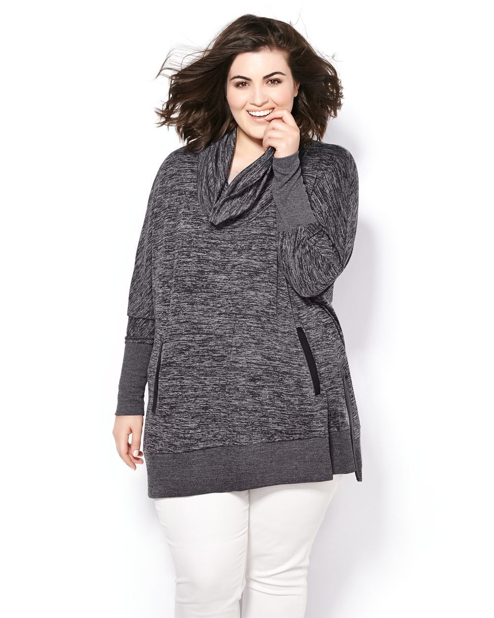 MELISSA McCARTHY Long Sleeve Cowl Neck Sweater | Melissa McCarthy ...