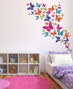 10 bonitas ideas para decorar con mariposas habitaci n ni a decoracion de pared decoraci n - Decoraciones para cuartos ...