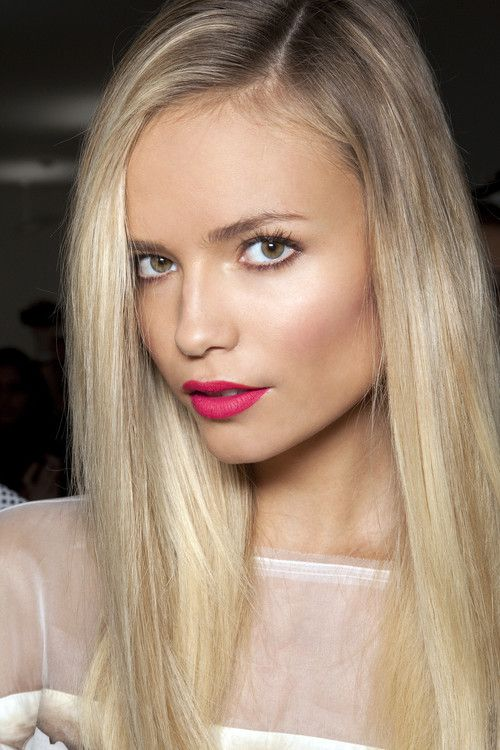 Natasha Poly backstage at Fendi Spring 2011