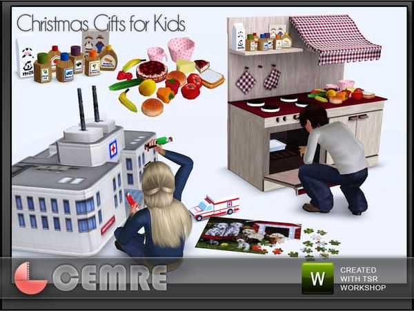 Kids Bedroom Gifts cemre's christmas gifts for kids | the sims 3 objects: kids