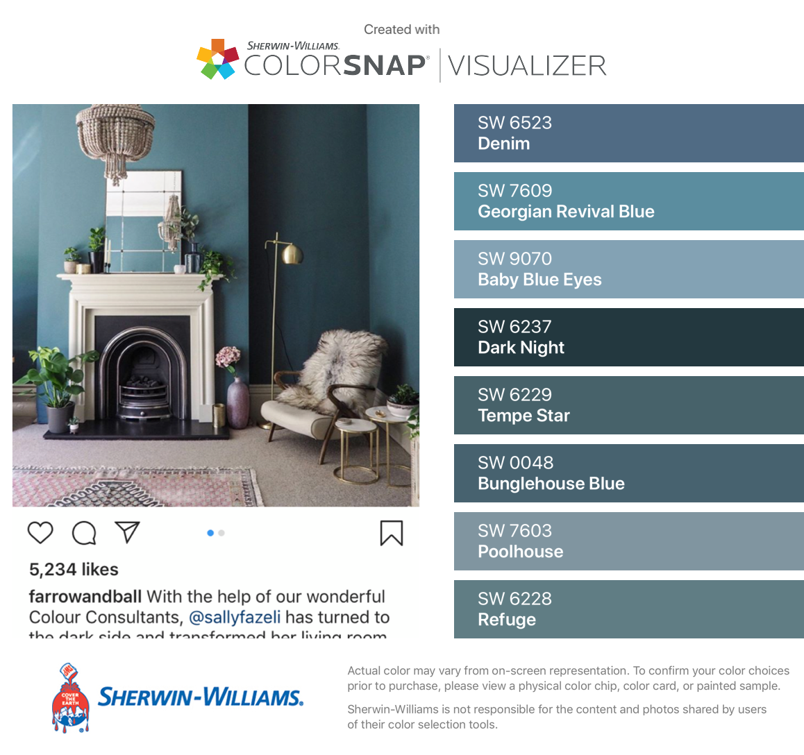 I Found These Colors With Colorsnap Visualizer For Iphone By Sherwin Williams Denim Sw 6523 Georgian Revival Blue Sw House Colors Pool Houses Blue Walls [ 1088 x 1158 Pixel ]