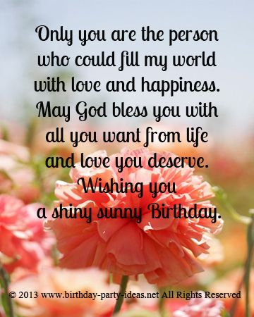 May God Bless You With All You Want From Life And Love You Deserve