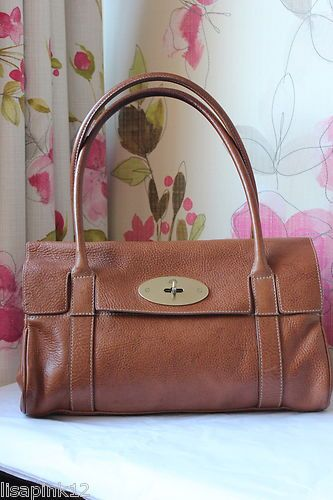 4febfb0b84 Details about MULBERRY Bayswater East West Oak NVT Leather Bag. Very ...