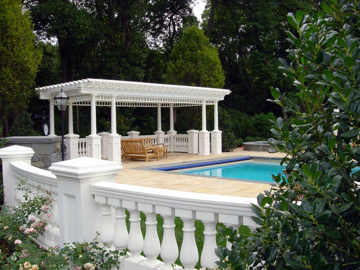 Perfect Beautiful Custom Swimming Pool Pergola And Garden Wall Design Ideas  Franklin Lakes Nj French Style Pool Design Ideas