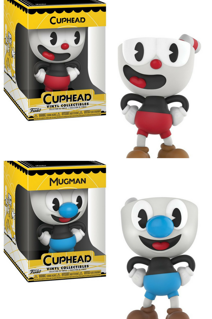 From Cuphead Cuphead And Mug Man As A Stylized Vinyl Figure From Funko Figure Stands 4 Inches And Comes In A Window Vinyl Figures Funko Vinyl Funko Figures