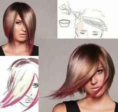pinwheel hair color technique - Google Search   hair   Pinterest ...