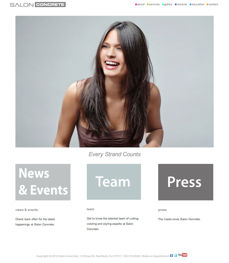 hair salon website design | My Website Design Work | Pinterest