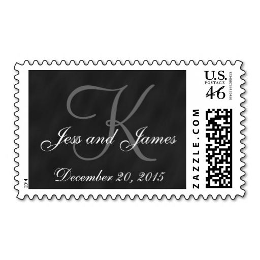 Chalkboard Save the Date Postage Stamp