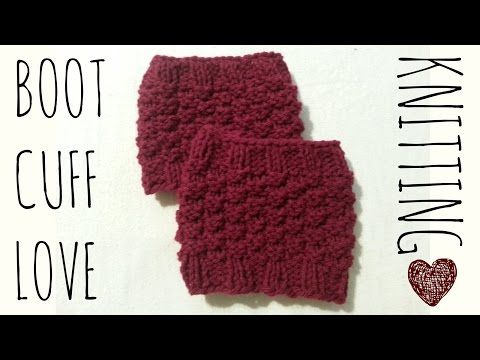 Boot Cuff Love Easy Knit Pattern Knitting Accessories Tutorial
