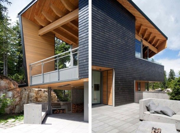 decoracao de interior: Design Moderno Para Casas na Montanha