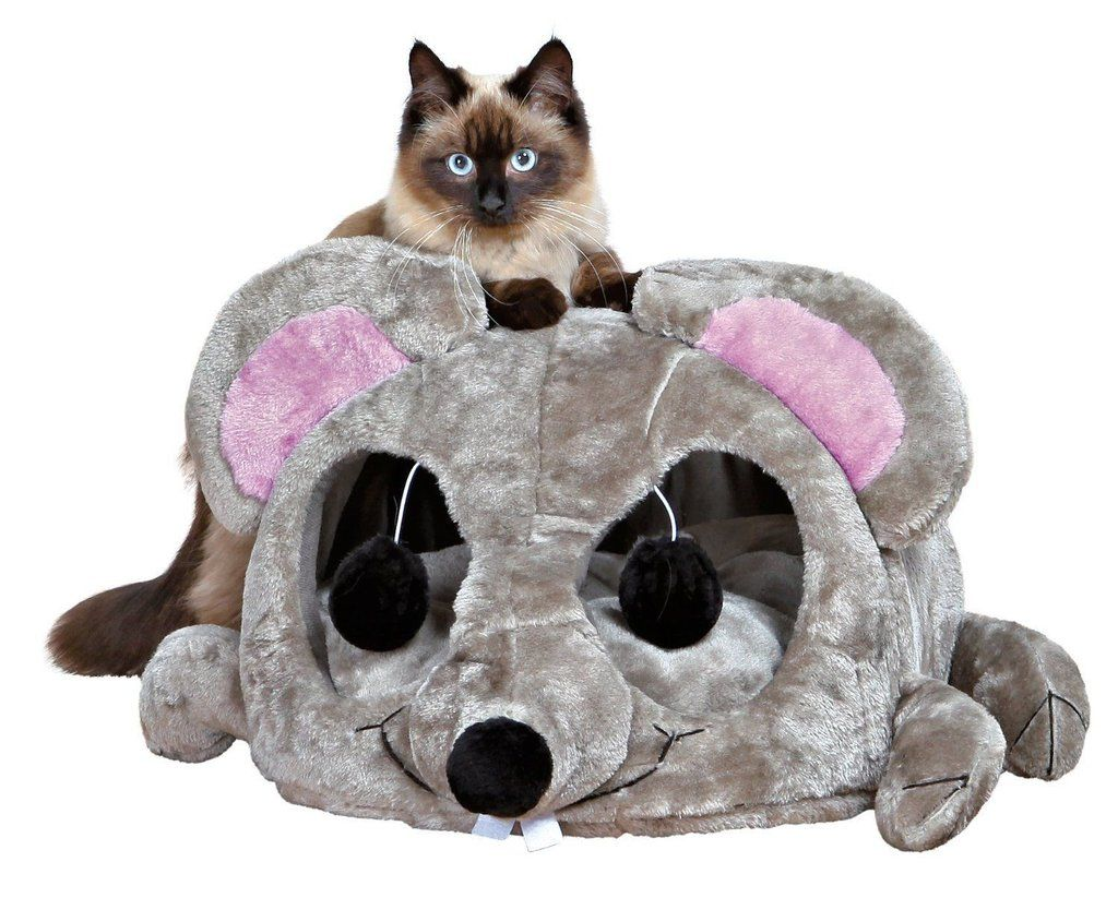 Mouse Cat House Bed With Removable Cushion Waterproof Bottom Cat Bed Cat Lounge Pet Carriers