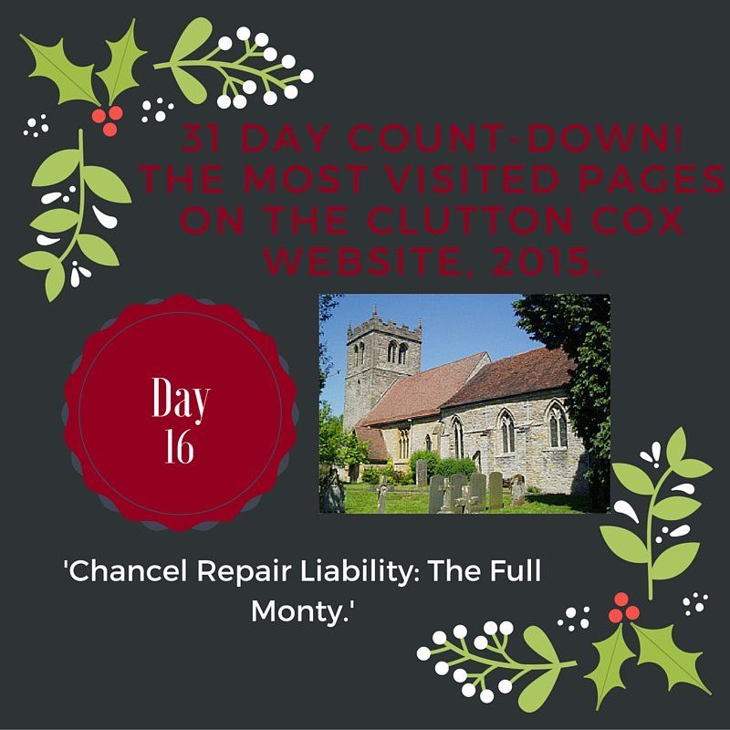 Day 16 of our 31 Day Countdown! Chancel Repair Liability: The Full Monty. #movinghome #property #chancelrepair
