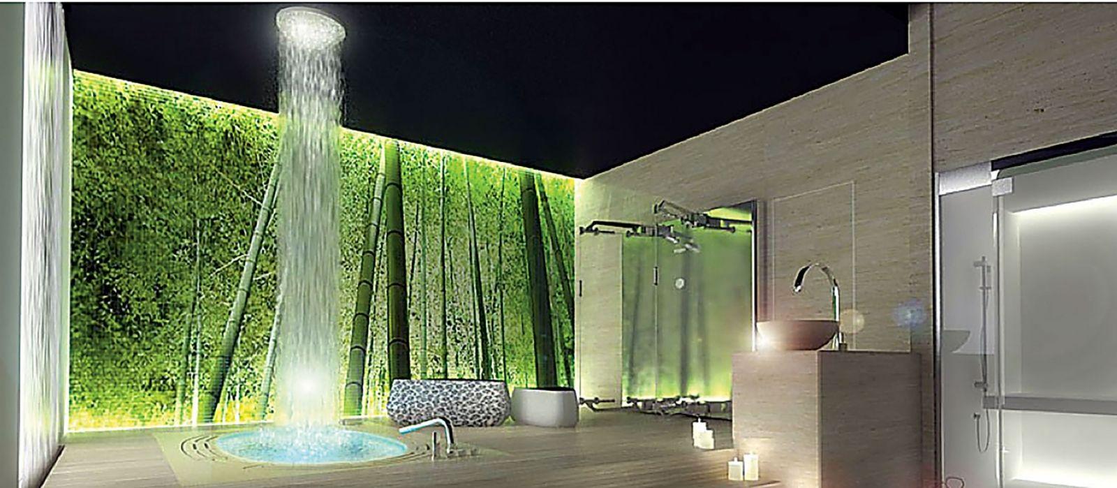 À la fois simple, mais aussi luxueuse, voici une salle de bain zen