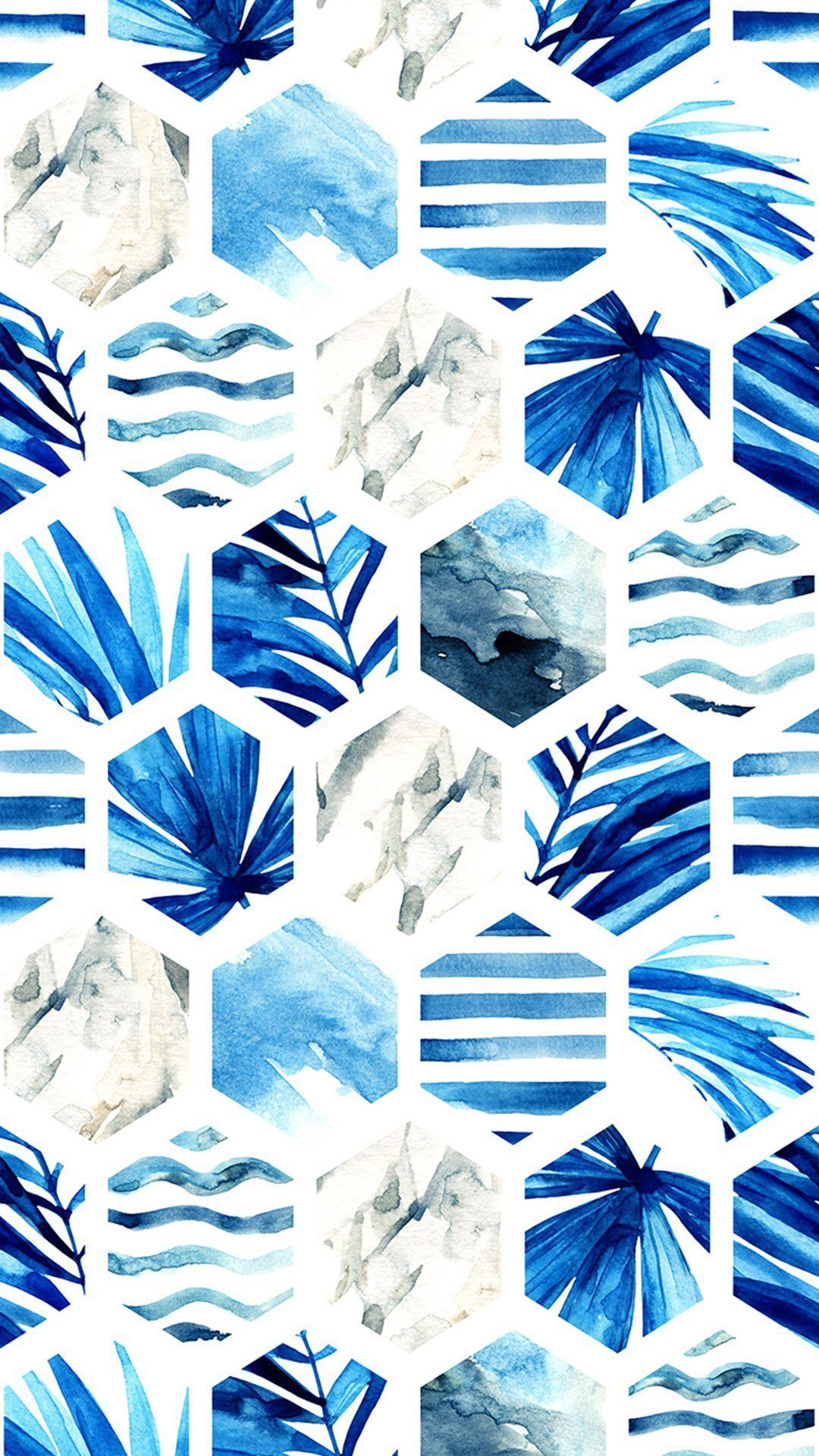Watercolorstyle blue wallpaper Ipad wallpaper
